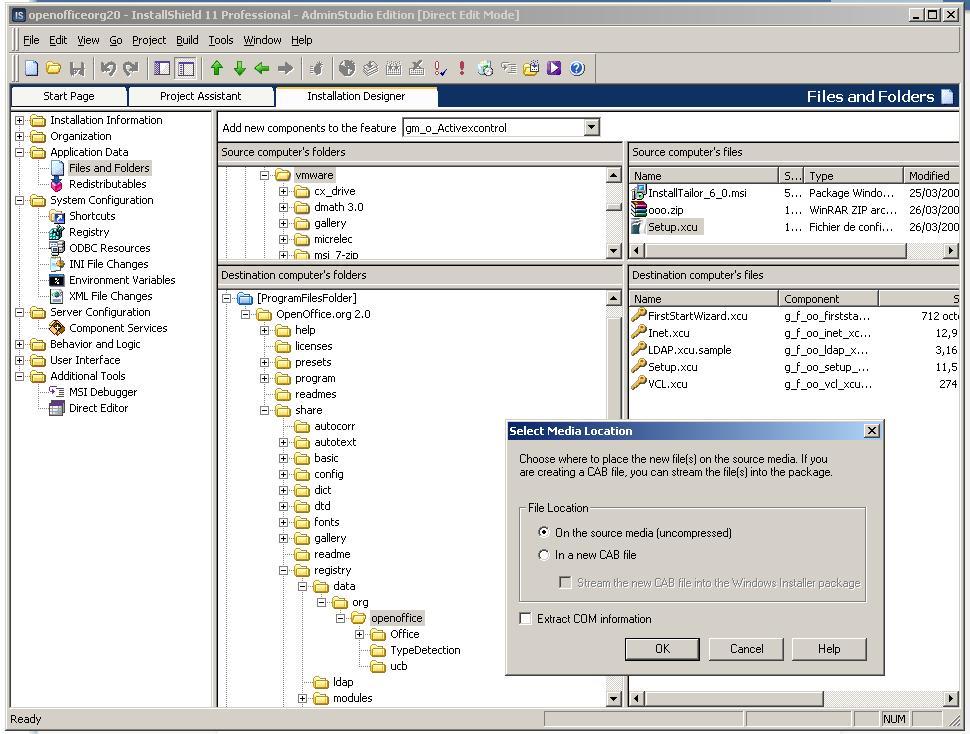 comment modifier un fichier msi